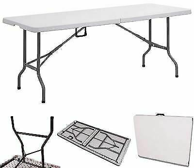 6ft Folding Catering Camping Trestle Table Dinner Picnic Party Heavy Duty 1.8m