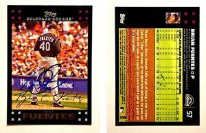 Brian-Fuentes-Signed-2007-Topps-57-Card-Colorado-Rockies-Auto-Autograph