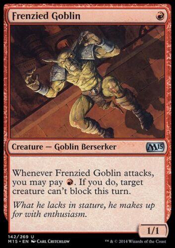 FRENZIED GOBLIN Magic M15 Mint 2x GOBLIN DELIRANTE