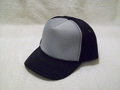 "New Black Gray Front All Foam Winter Hat 3 3//4/"" Crown Cobra Cap WFC"