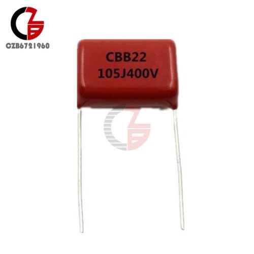 10PCS 1uF 400V CBB22 Through Hole Polypropylene Film Capacitors
