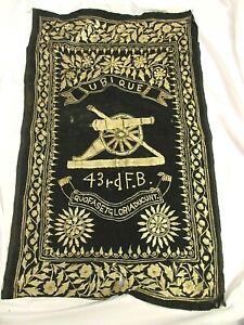 Antique-Military-Tapestry-43rd-F-B-Artillery-UBIQUE-QUO-FAS-ET-GLORIA-DUCUNT