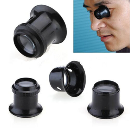 1PCS 10X Jewelers Watchmakers Eye Loupes Magnifier Magnifying Glass Tool ZN