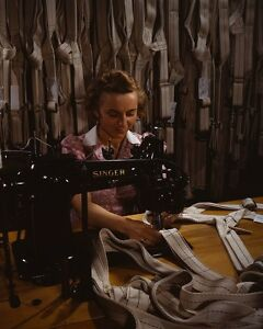 Sewing-parachute-harnesses-Manchester-Connecticut-WWII-Homefront-Photo-Print