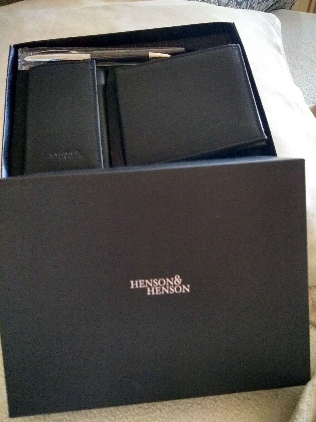 HENSON & HENSON · Set mit Geldbörse, Schlüsseletui und Kugelschreiber