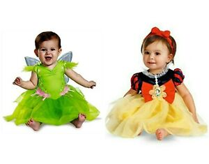 Girls-039-Disney-Snow-White-Princess-Tinker-Bell-Deluxe-Infant-Costumes-NWT
