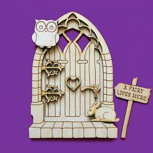 Fairy door 3d wooden elf owl gothic medieval shapes pixie for Fairy door shapes