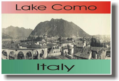 NEW Italy Italian Travel Classroom School POSTER Lake Como Italy Circa 1910