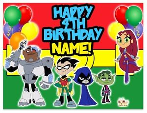 Free Printable Cake Toppers Of Teen Titans