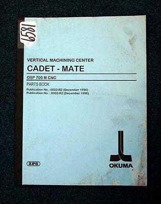 Inv 6581 Moderate Price 0002-r2 Fashion Style Okuma Parts Book Vertical Machining Center Cadet-mate