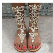 f53006511 item 8 Plus Size Women Gladiator Rhinestone Bling Strap Sandals Flats  Wedding Shoes sz - Plus Size Women Gladiator Rhinestone Bling Strap Sandals  Flats ...