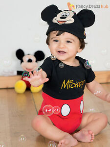 5757eda3415 Details about Baby Toddler Deluxe Mickey Mouse Costume Boys Disney Fancy  Dress Jersey Outfit