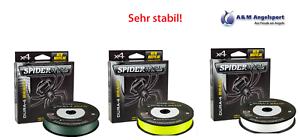 Spiderwire Dura 4 Braid tressées ficelle 300 m FIL DE PÊCHE Vert//Jaune//Blanc