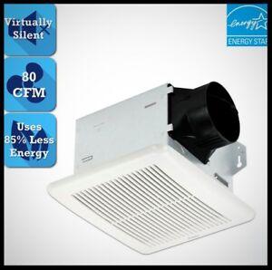 DELTA-BREEZ-Bathroom-Exhaust-Fan-80-CFM-Quiet-Bath-Room-Vent-Wall-Ceiling-Mount
