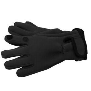Mens Neoprene Fishing Photography Shooting Fold-Back Finger Gloves - Black