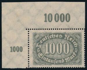 DR-1923-MiNr-252-DD-Bogenecke-tadellos-postfrisch-gepr-Oechsner-Mi-150