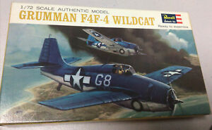 Revell-H-639-50-Grumman-F4F-4-Wildcat-1-72-1965-Release-Vintage