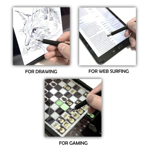 Stylus Pen 2 in 1 For Capacitive Touch Screen Devices High Sensitivity Precision