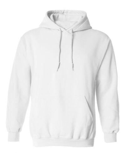 À Capuche Plain Sweat-shirt Hommes Femmes Pull à capuche en molleton coton blanc NEUF S-3XL