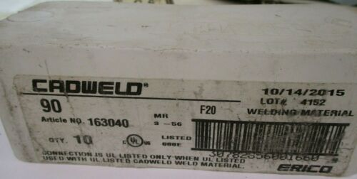 Details about  /New Erico CADWELD 90 Welding Material A448ISU