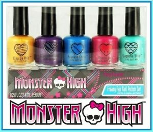 Monster-High-FREAKY-FAB-NAIL-POLISH-Gold-Purple-Blue-Pink-Turquoise-Color-Style