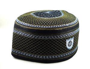 Alawee Muslim Kufi Hat ALWs001 Islam Prayer Cap Men Headware Eid Gift Size 23 in