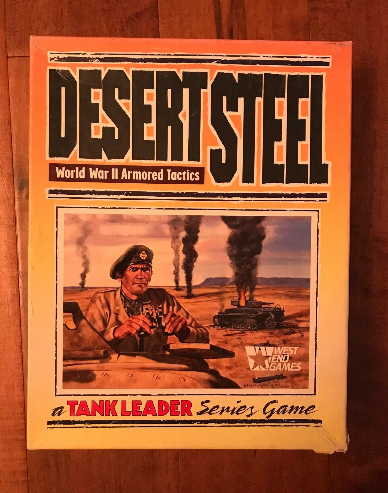 West End Wargame Tank Leader DESERT STEEL Board Game World War II Complete