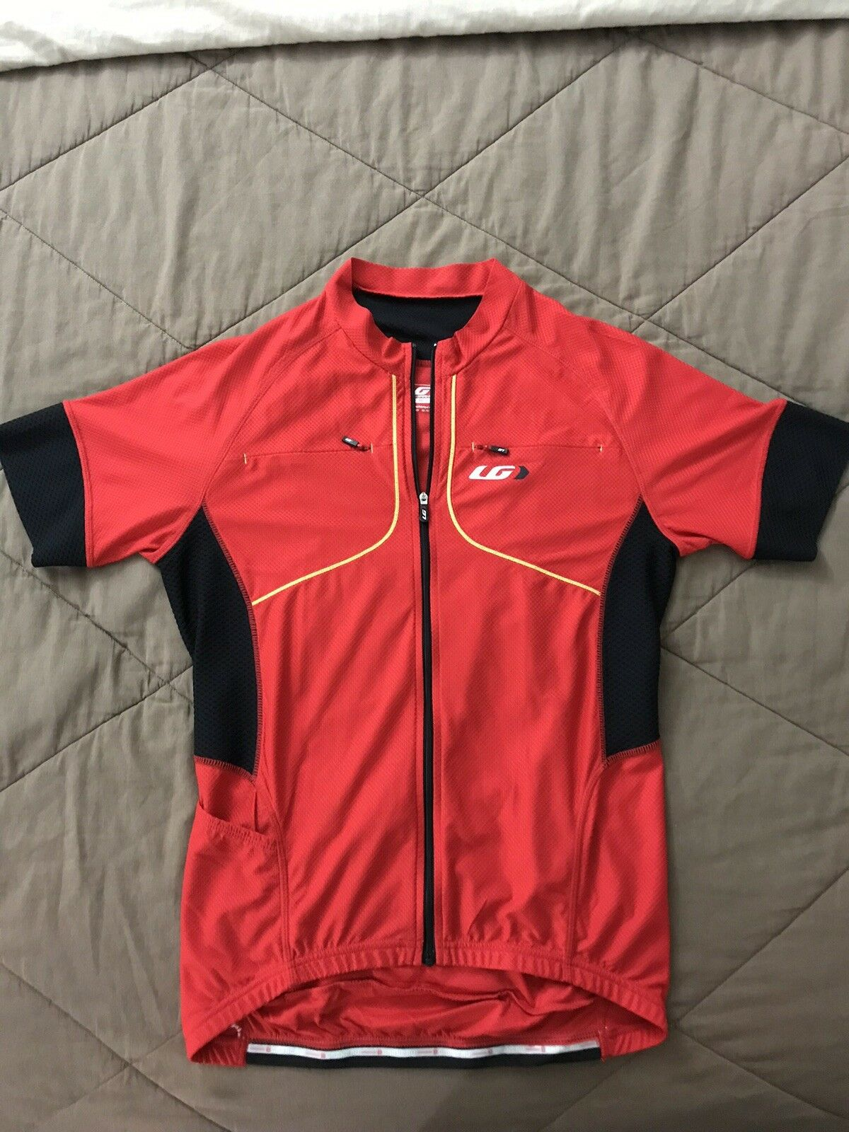 Louis Garneu   Cannondale Jersey ( Red )  And ( Yellow ) Size (M)