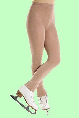 Mondor Adult #3373 SUNTAN Footless Skating Tights With Gusset