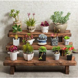 Ladder-Plant-Stool-Bench-Shelf-Flower-Stand-Rack-Indoor-Outdoor-Garden-Display