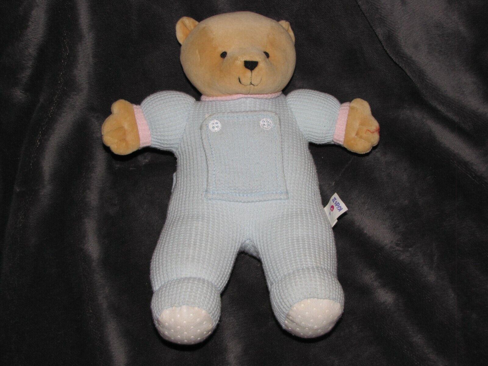 1999 KIDS II BABY THERMAL blueE PEEK A BOO MIRROR TEDDY BEAR STUFFED ANIMAL PLUSH