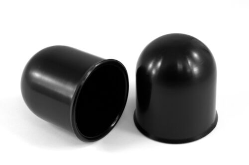 10x 50mm Black Tow Ball bar Cap Cover Towing Car Van Trailer Towball Protection