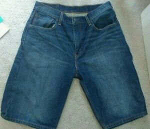 Men-039-s-Levi-Jean-Shorts-sz-32-Blue-Jean-Loose-Fit-Inseam-12