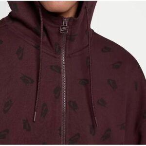 capuche pour à logo Rouge Nouveau L Homme de Nike Imprimé et Bordeaux Allover Sportswear complet Sweat 85adcwqw