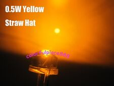 100pcs 8mm 05w Yellow Straw Hat High Power Diodes Led Lamp Strawhat Leds New