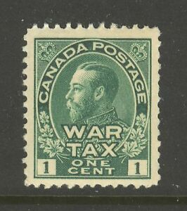 Canada-MR1-1915-1c-King-George-V-War-Tax-Issue-Unused-NH