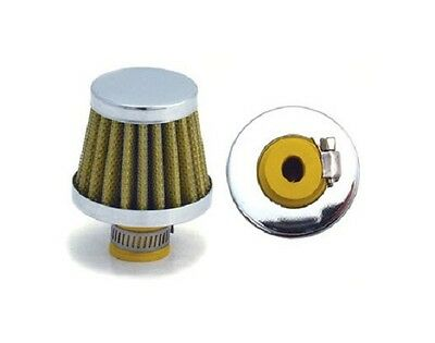 """mini yellow cotton fiber reusable breather air filter RC cleanable 3/8"""" 3994"""