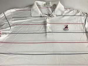 Treyburn-Polo-Shirt-VTG-Mens-XL-2XL-Striped-Golf-Course-Durham-North-Carolina