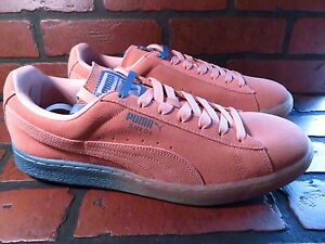 PUMA-Pink-Dolphin-Suede-PD-Mens-Shoe-Size-13-NEW-362216-02-Coral-Pink-Blue