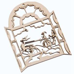 10-pz-Ornamenti-di-Natale-in-legno-Hanging-Hollow-Babbo-Natale-Fawn-D6Y8