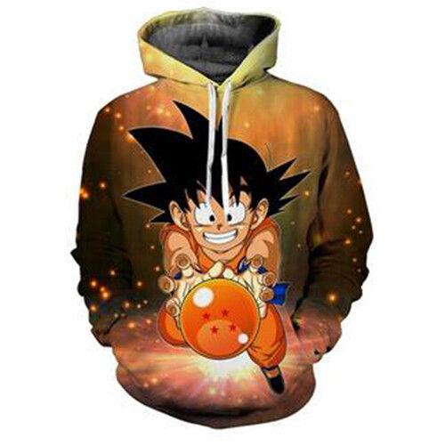 New Women Men Dragon Ball Z Goku Kid 3D Print Pullover Hoodie   Sweatshirt S-5XL