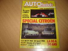 Auto hebdo N°464 BX Sport.Dossier Citroën.