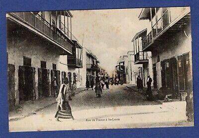 Bl/ CPA /Carte Postale/ Rue de France / Saint Louis -> Sénégal   eBay
