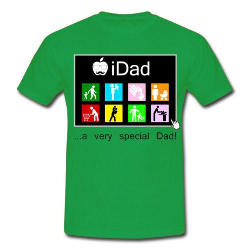 computer! papà speciale idea regalo per festa del papà T-shirt uomo iDad app