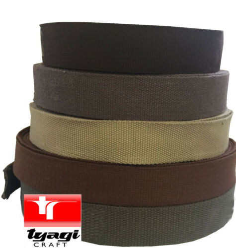 BUNTING WEBBING DECORATION HANDLES TRIM EDGE BELTS STRAPS 38mm CANVAS TAPE