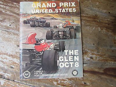 1972 Us United States Grand Prix Programma Watkins Glen Stewart Brabham Revson