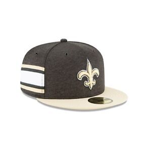 New Era 59FIFTY NFL New Orleans Saints 2018 On Field Sideline Hat ... 4da1bad54e
