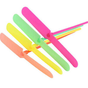 20X-Helicopter-Propeller-Hand-Rub-Flying-Toy-Children-Plastic-Dragonfly-Gift