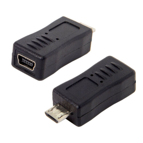 2pcs Micro USB 2.0 Male to Mini Female USB Data charge Adapter for phone Tablet