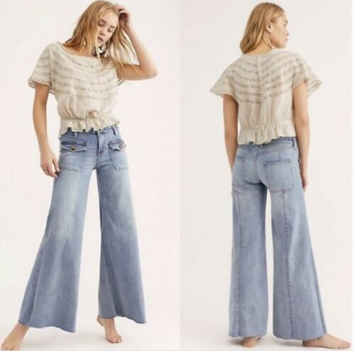 Free People Hailey Jeans Bell Bottom Low Rise Size